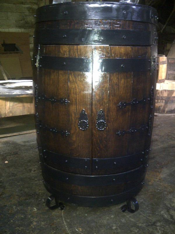 Cava bar madera de roble artesania en barril bs for Bar barril de madera
