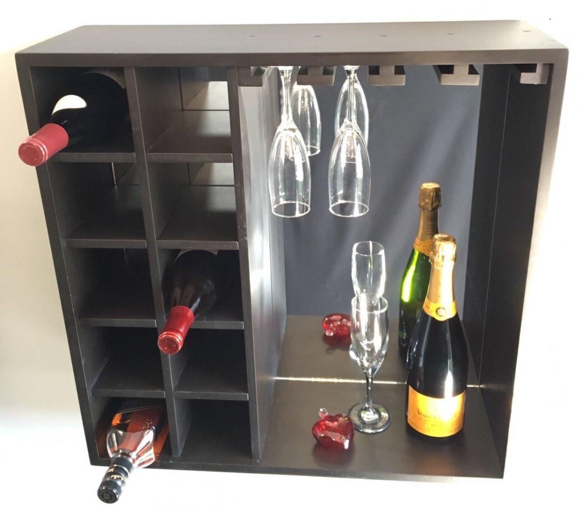 Cava cantina mueble bar contemporaneo de pared vinos for Mueble vinos
