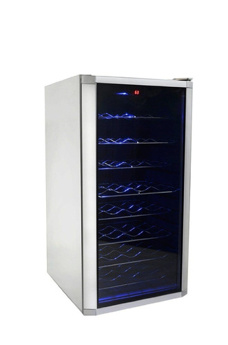 cava de vino 32 botellas luz led puerta cristal