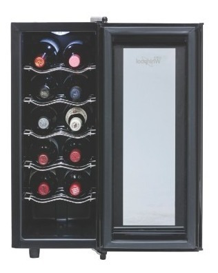 cava de vinos 12 botellas - negro negro whirlpool