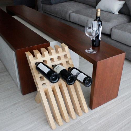 cava de vinos hexagon clara (8 botellas) + envio gratis