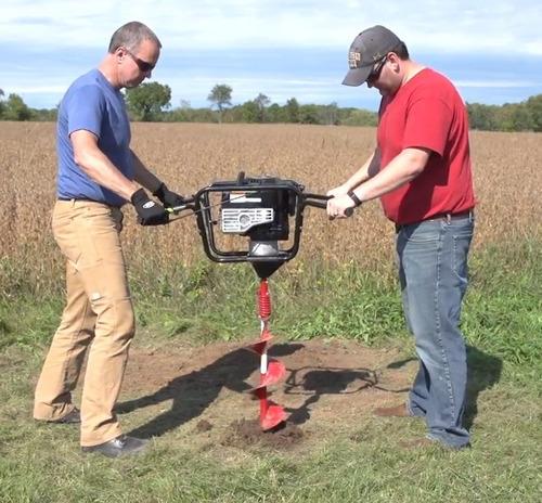 cava hoyos a gasolina 190cc cc dos personas (solo motor), nt