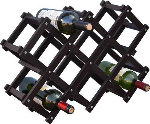 cava porta botellas de madera practica y moderna hogare