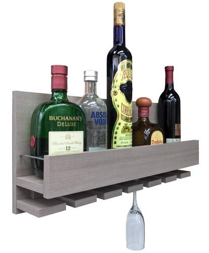 cava repisa porta botellas vinos bar cantina gris ceniza