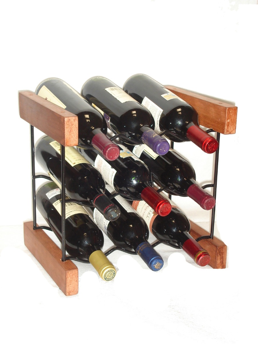 Cava soporte para 9 botellas de vino en - Cavas de vinos para casa ...