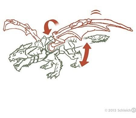 cavaleiro no dragão 70100 boneco alemao schleich medieval