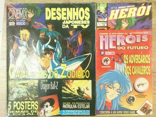 cavaleiros do zodíaco lote com 3 revistas
