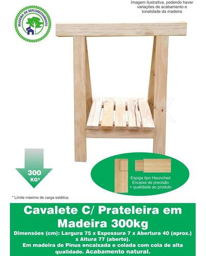 cavalete c/ prateleira decoração madeira reforçado 75x80 cm