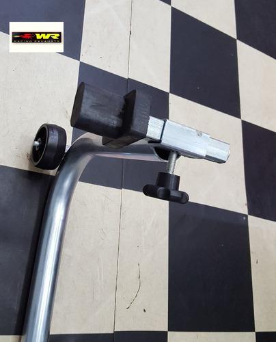 cavalete moto cb 650f para suspensão traseira balança