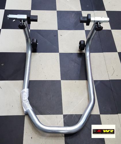 cavalete moto xre 300 para suspensão traseira balança