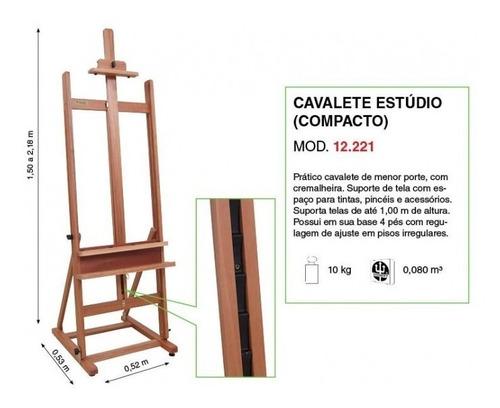 cavalete pintura estúdio compacto trident 12221 *frete+barat