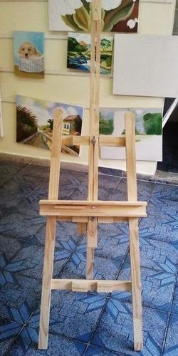 cavalete+ quadro assinatura 50x60 p/ foto 30x40/ fret grátis