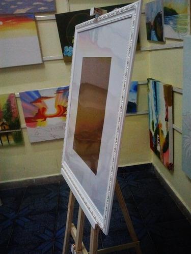 cavalete+ quadro assinatura p/foto30x40cm margem10cm-50x60cm