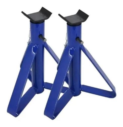 cavalete tripé 2,5t para carro aço azul ou vermelho ( par )