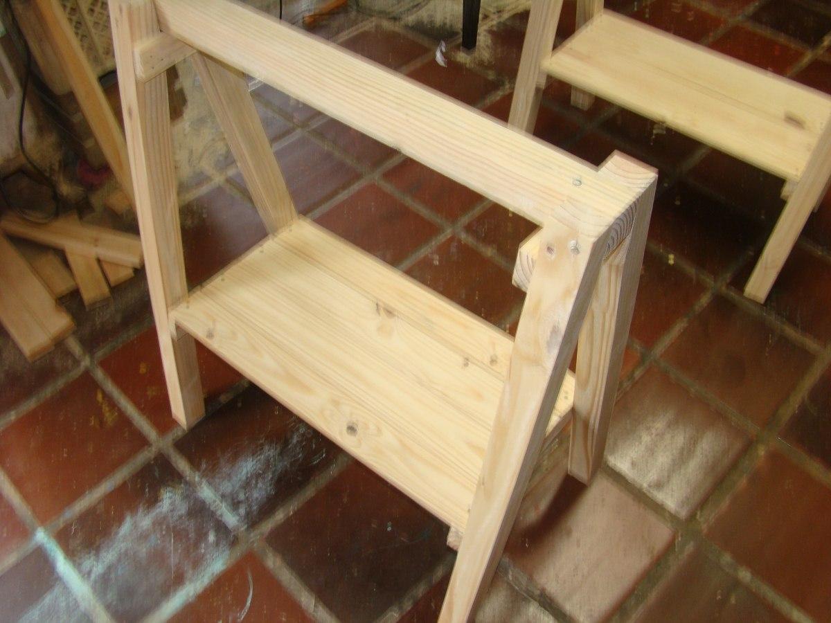 Cavaletes De Madeira Mesa R$ 110 00 em Mercado Livre #A27A29 1200x900