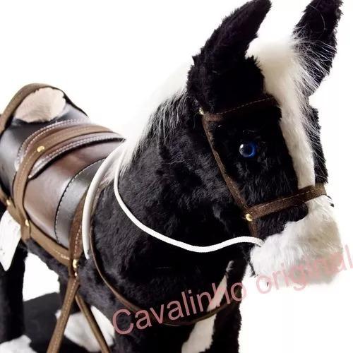 cavalinho balanço madeira r. pelúcia + lindo + frete grátis