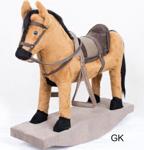 cavalinho de balanço madeira pelucia lindo brinquedo + nota