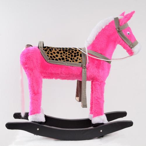 cavalo de brinquedo em pelúcia artesanal com gangorra + fret