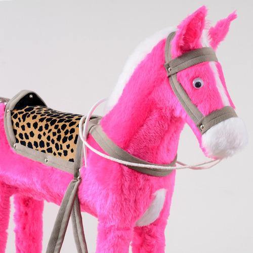 cavalo de pelúcia  atesanal com gangorra+ frete!