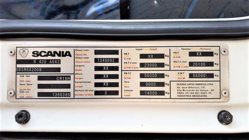 cavalo mecanico scania r 420 highline 6x2 2011 novo