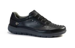 Cavatini Zapatos Zapatillas Mujer Cuero Metalizado Elásticos