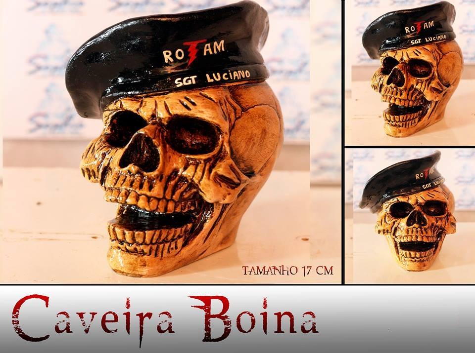 f1806b8e4b778 Caveira Boina Militar