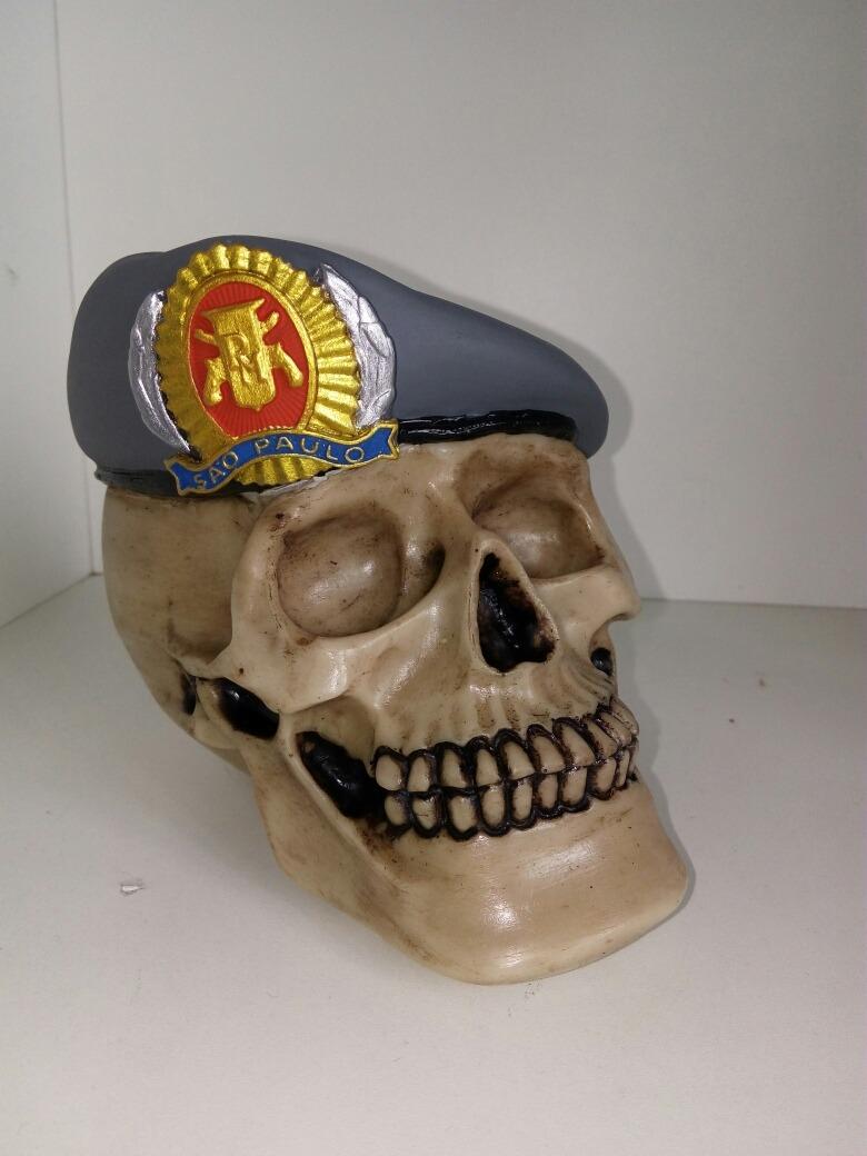 caveira com boina da policia militar do estado de são paulo. Carregando  zoom. be7ac1c995d
