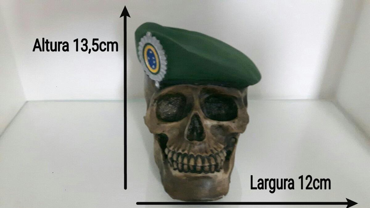 16155e1ef2a8c caveira do exercito brasileiro com boina verde. Carregando zoom.