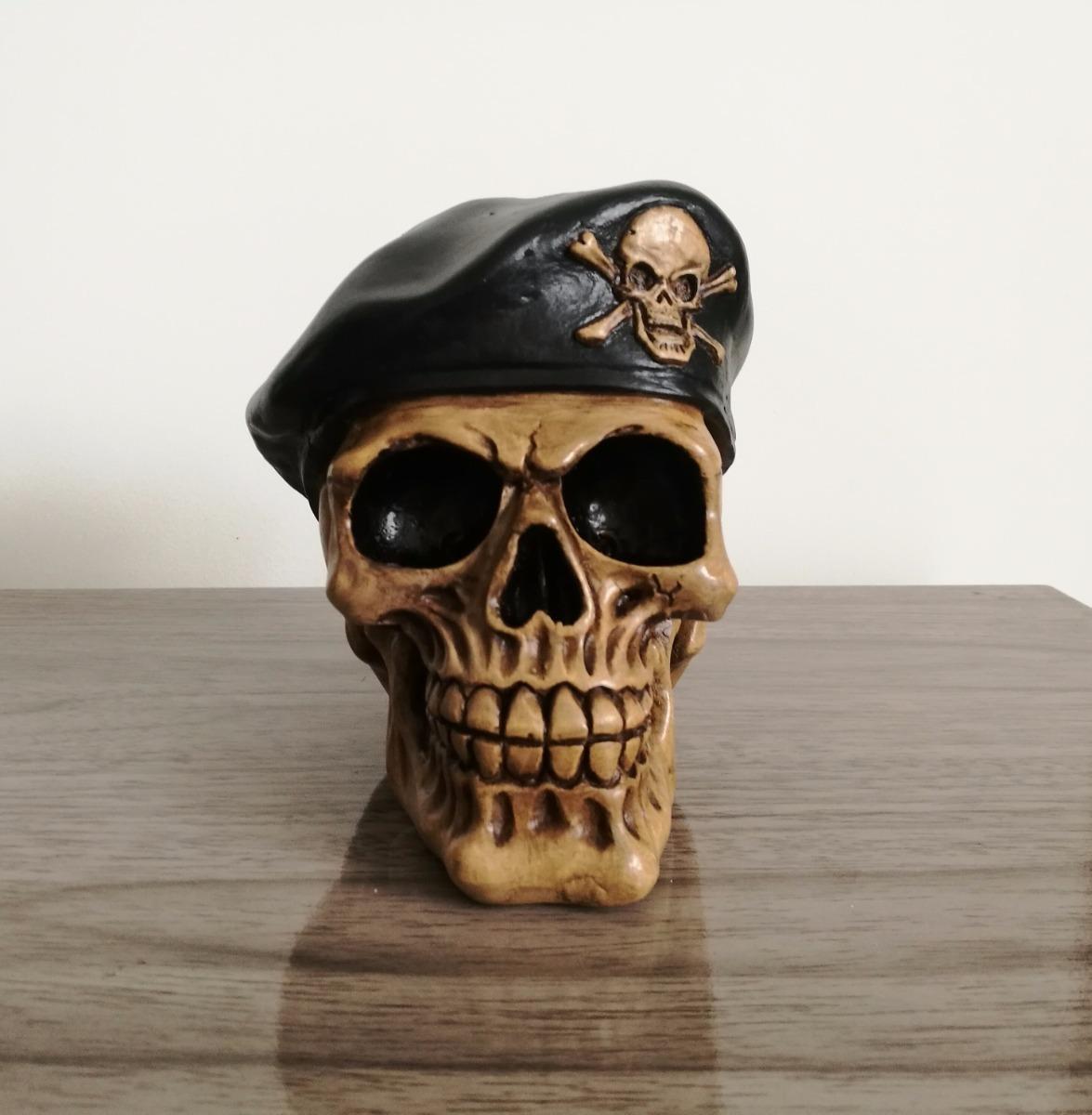 4b975d71ebe52 caveira em gesso boina militar soldado decorativa. Carregando zoom.