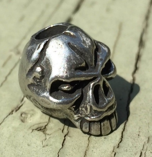 caveira metal para paracord cordão lanyard pulseira made usa