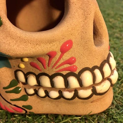 caveira mexicana pintada à mão original varal