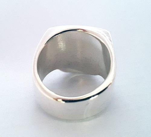 caveira prata anel