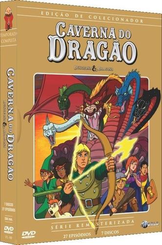 caverna do dragão - box com 7 dvds - 27 episódios - novo