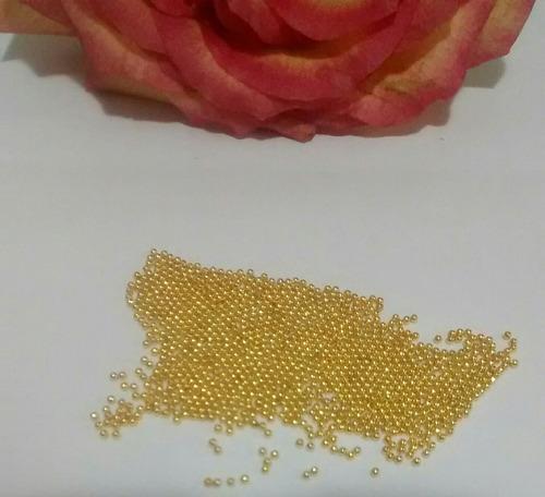 caviar metal 1mm 10 gramas micro pérola pedrarias unhas