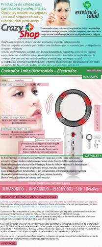 cavitador ultrasonido 4en1 electroestimulador portable crazy