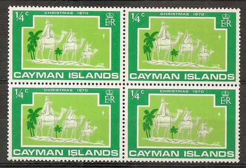cayman islands navidad en cuadrito mint año 1970