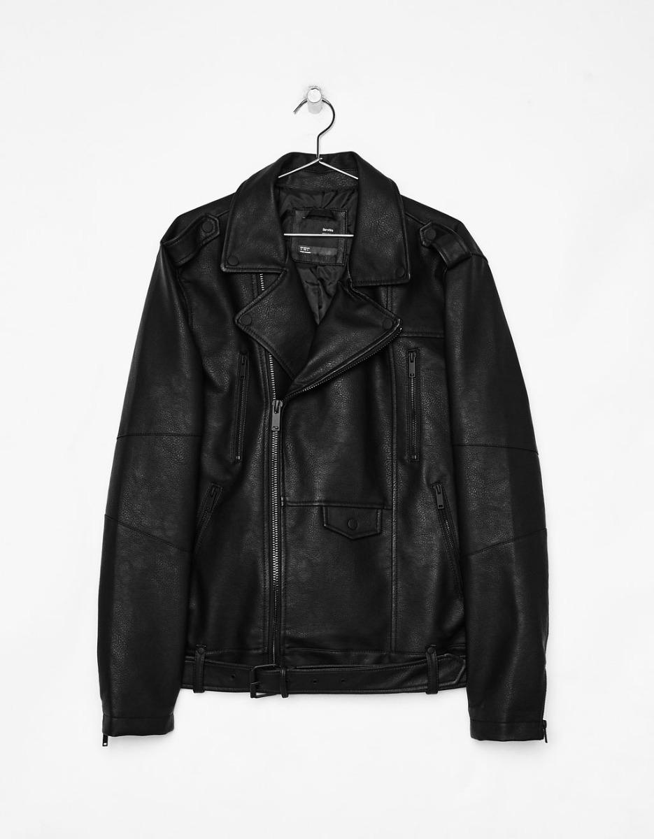 1e731f070ad cazadora biker piel poliuretano chaqueta impermeable hombre. Cargando zoom.