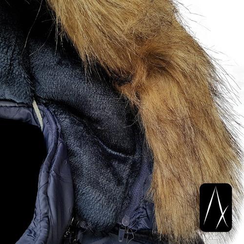 cazadora hombre peluche abrigo chamarra larga ligera termica