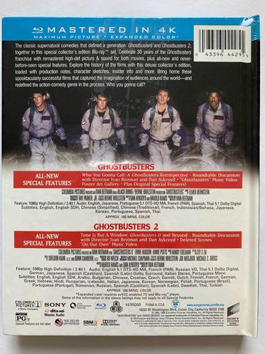 cazafantasmas 1 & 2 blu ray + libro edición especial sellado