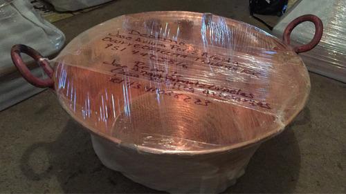 cazo de cobre 88 cm diámetro