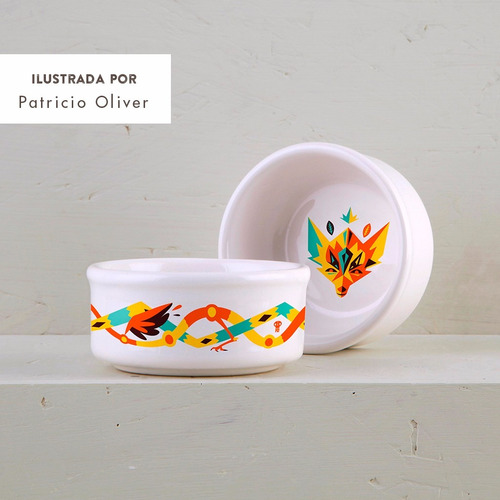 cazuela de diseño decorada de cerámica | amazonica