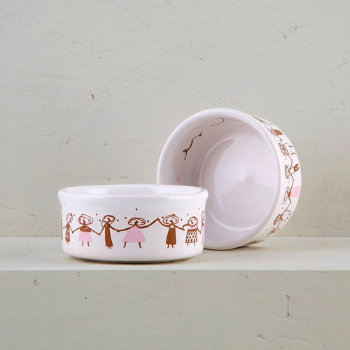 cazuelas de diseño de cerámica decoradas (x2) | mc