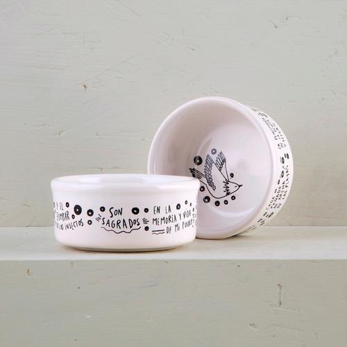 cazuelas de diseño de cerámica decoradas (x2) | vg