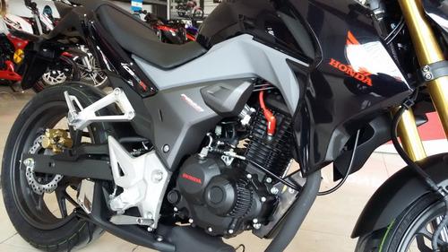 cb 190 r honda negra 2017 0 km nueva moto sur  roja