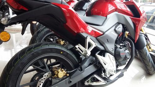 cb 190 r honda roja 2017 0 km nueva moto sur negra