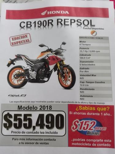 cb190r repsol año 2018 marca honda nueva