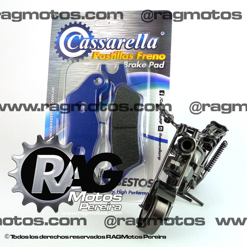 cbf 150/125 pastillas freno delanteras cassarella moto