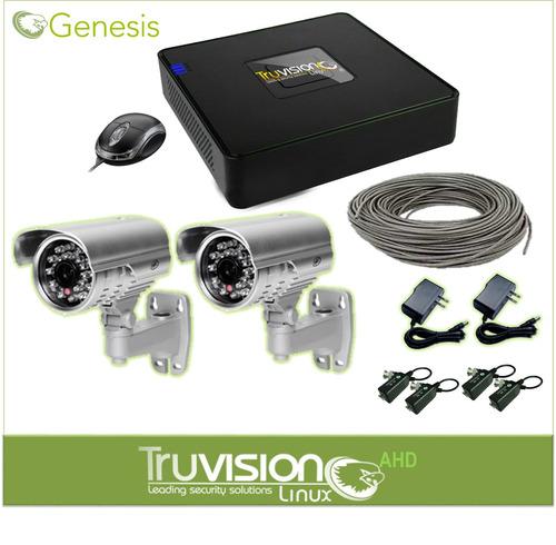 cctv camaras de seguridad hd + cable + accesorios
