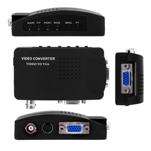 cctv composto + s-video vga bnc para vga conversor adaptador