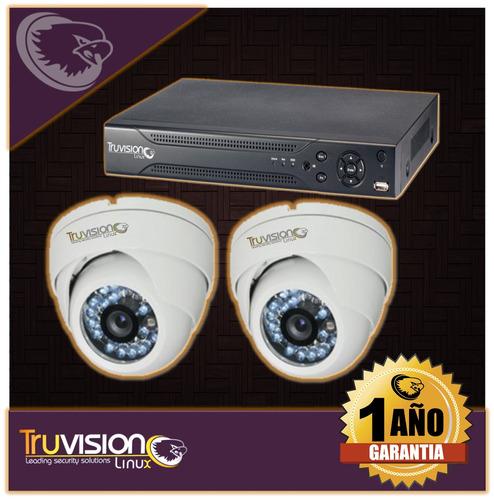 cctv dvr 4 canales+ camaras seguridad +disco duro truvision